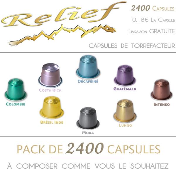 Pack Top vente des capsuels de thé compatibles Nespresso de la marque Capsule & Bio